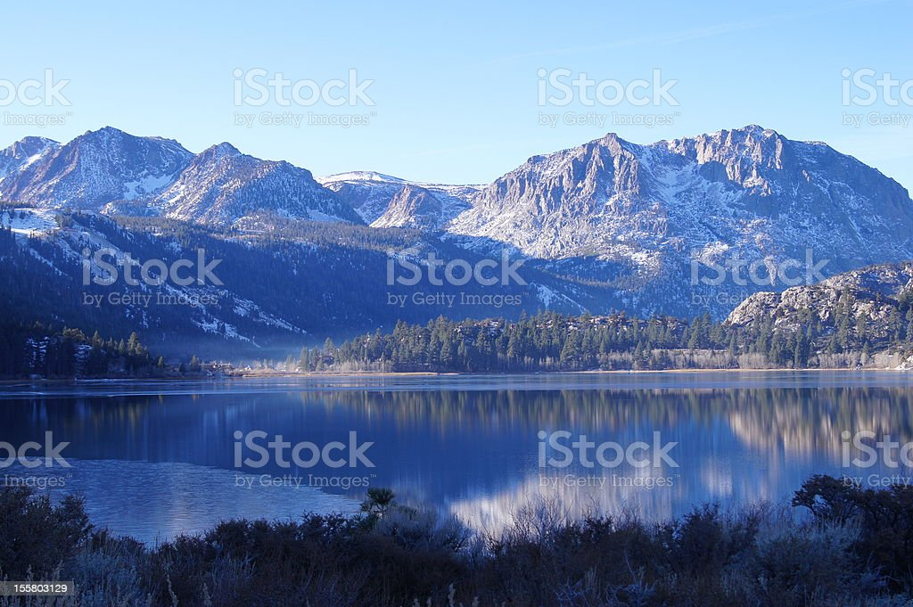 june lake, california stock photo