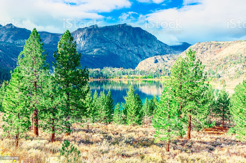 June Lake, Sierra Nevada, California stock photo