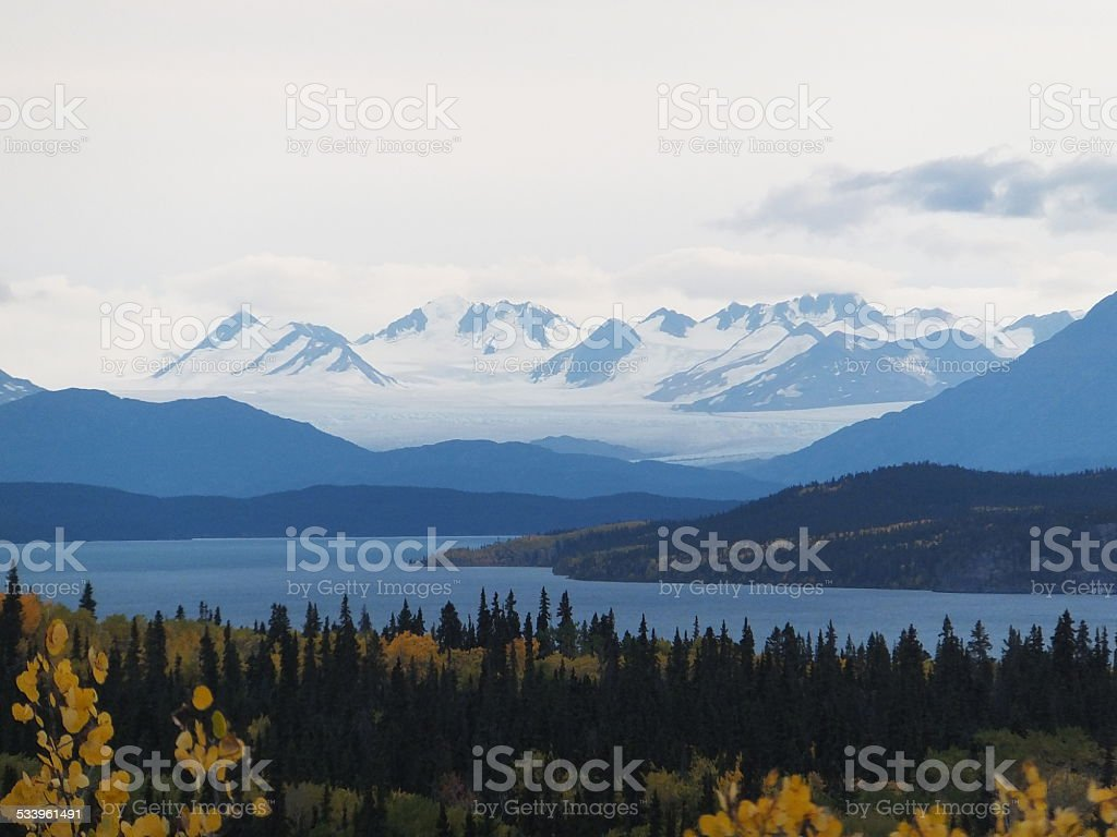 Juneau Icefield and glaciers stock photo