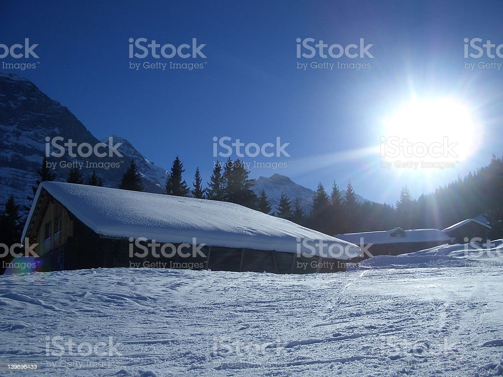 Jungfrau aera Switzerland royalty-free stock photo