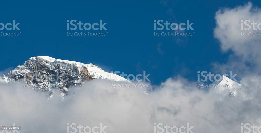 Jungfrau and Silberhorn stock photo