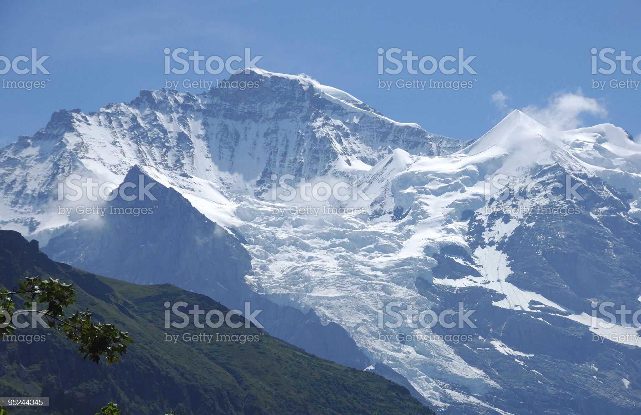 Jungfrau Glacier royalty-free stock photo