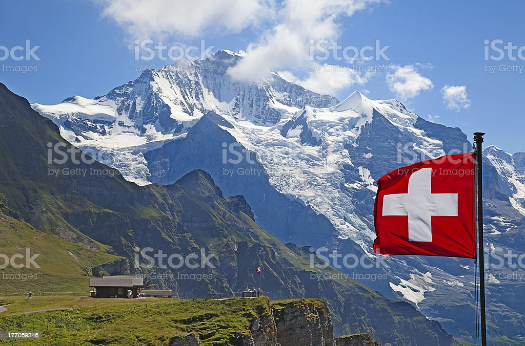 Jungfrau mount stock photo