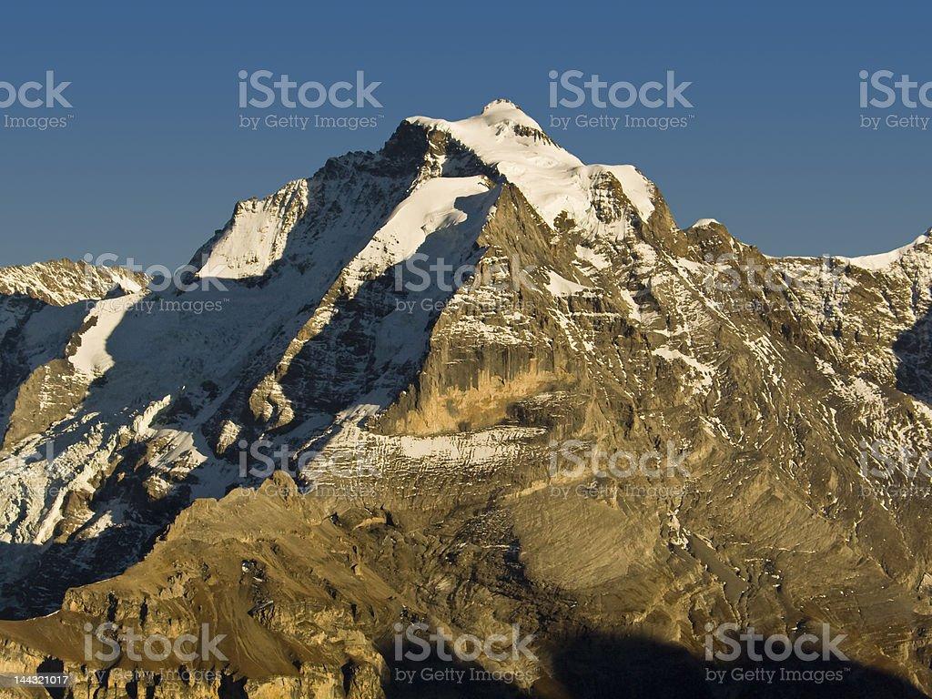 Jungfrau mountain in Swiss alps royalty-free stock photo