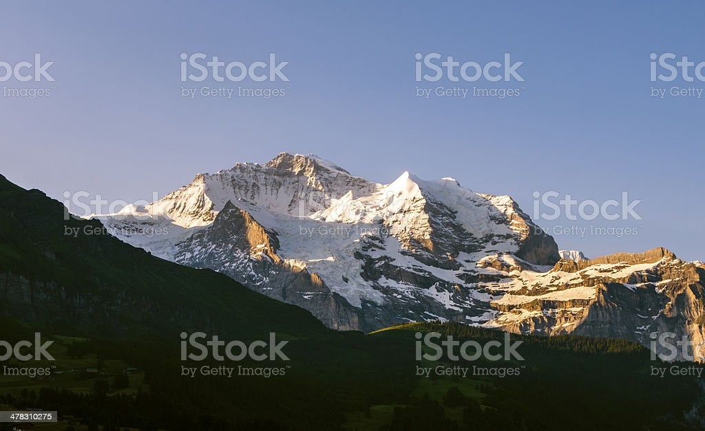 Jungfrau Mountain in the early morning, Switzerland royalty-free stock photo