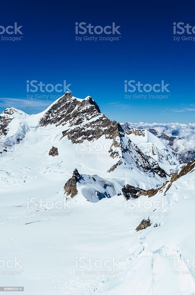 Jungfrau mountain, Switzerland. AdobeRGB stock photo
