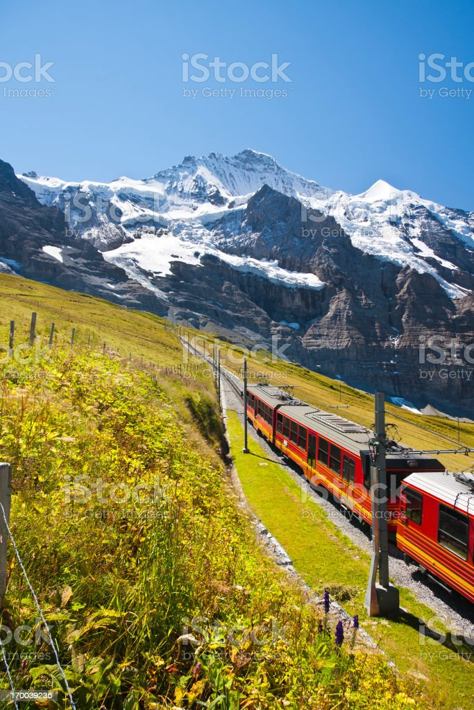 Jungfraubahn, Swiss Alps stock photo