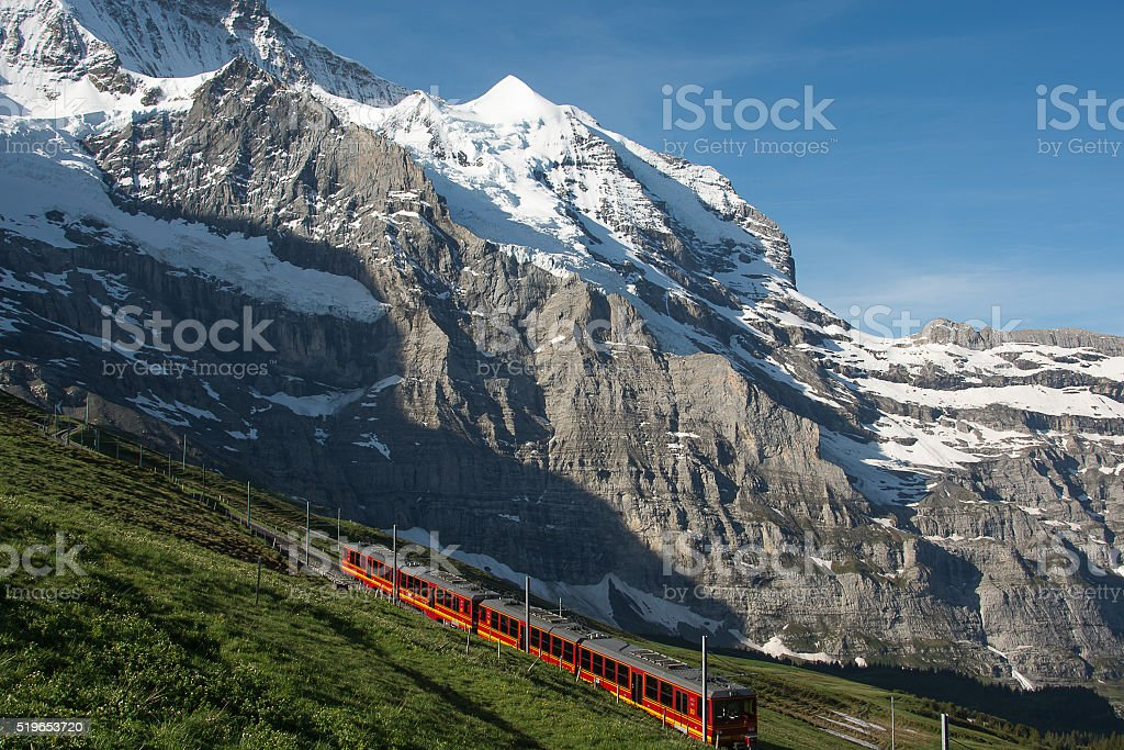 Jungfrau Railway, Switzerland stock photo