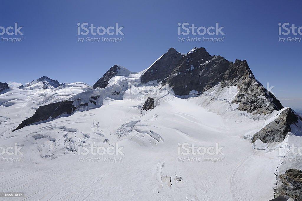 Jungfrau summit royalty-free stock photo