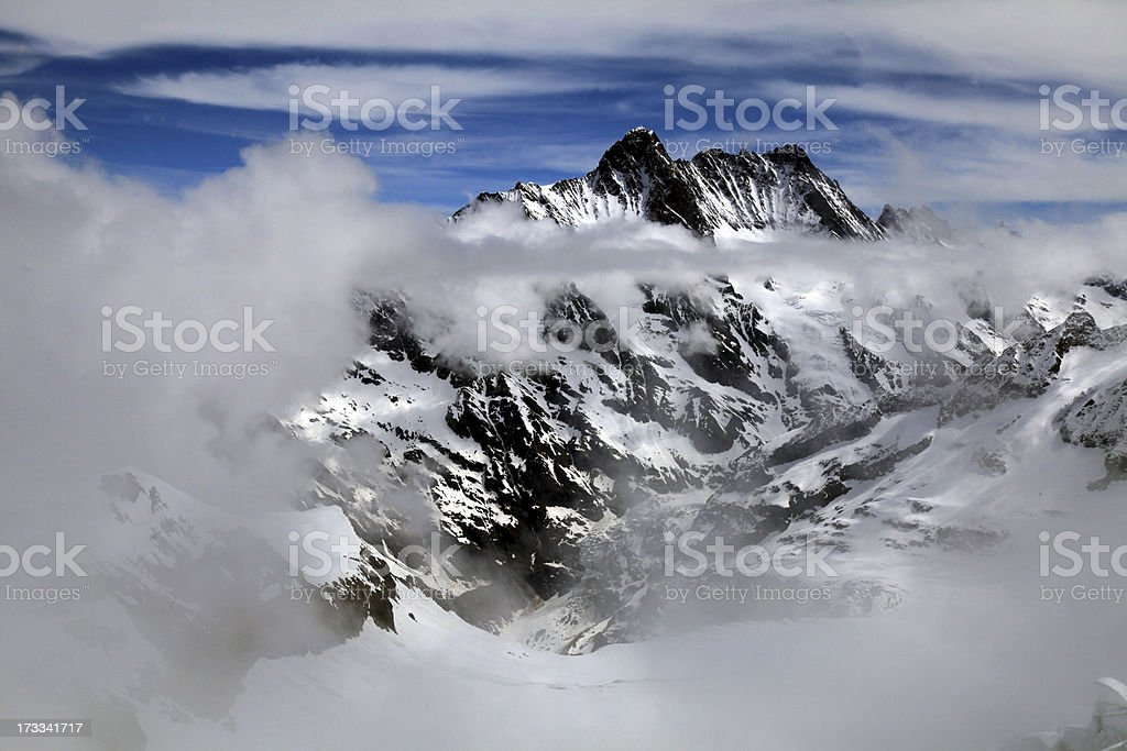 Jungfrau, Switzerland and cloudscape royalty-free stock photo