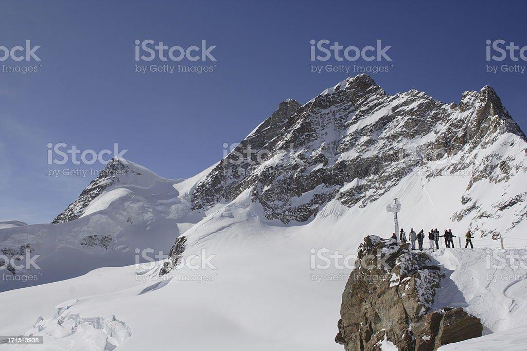 Jungfrau - Top of Glaciers royalty-free stock photo