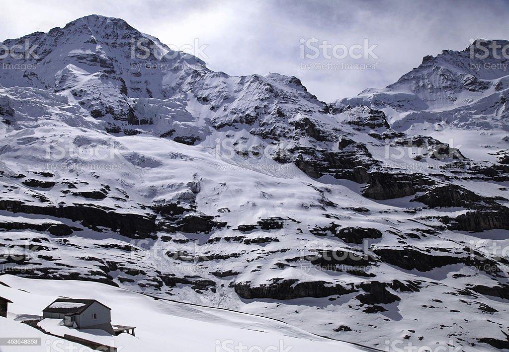 Jungfraujoch - 'Top of Europe' in Swiss Alps(Switzerland). royalty-free stock photo