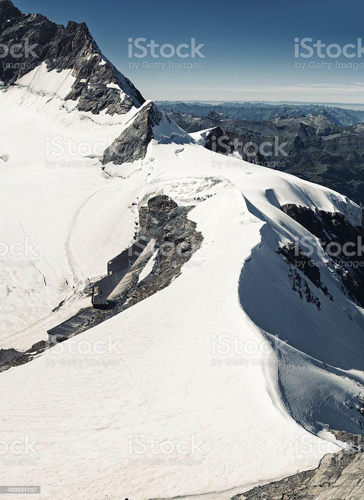Jungfraujoch train station on Aletsch Glacier, Switzerland - VI royalty-free stock photo