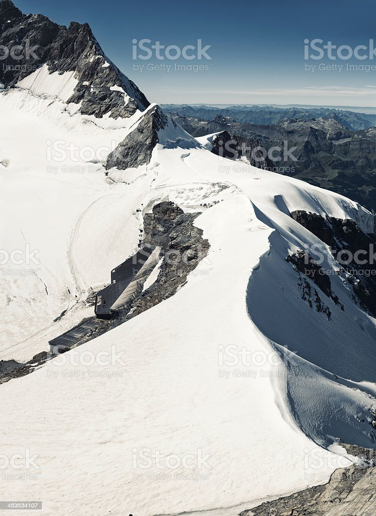 Jungfraujoch train station on Aletsch Glacier, Switzerland - VI stock photo
