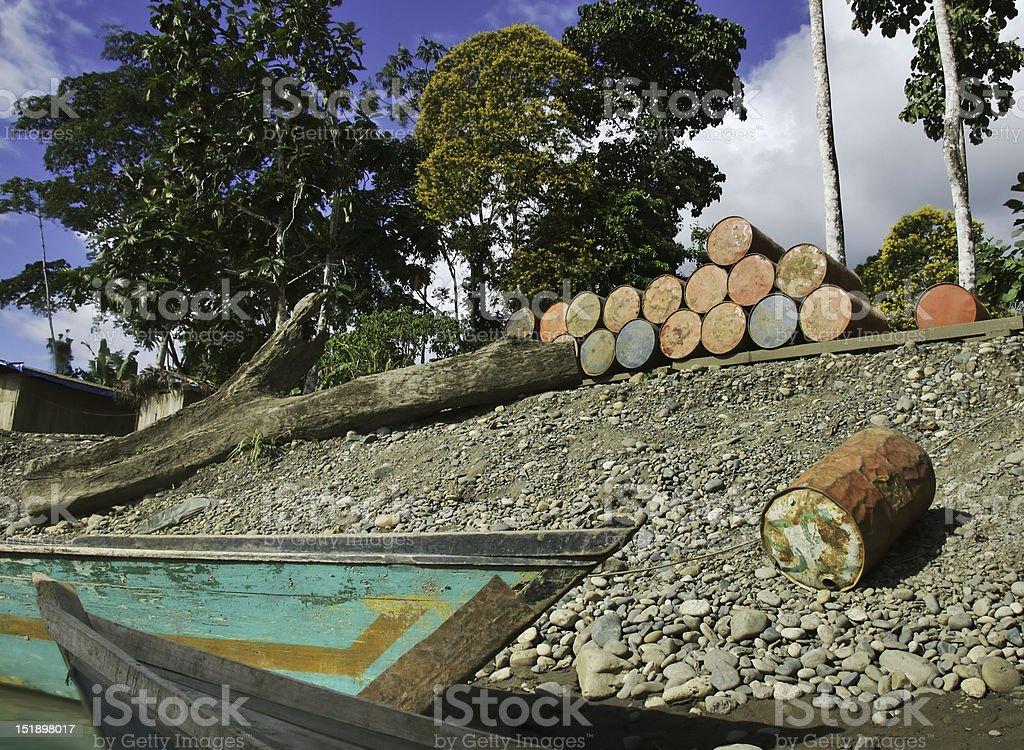 Jungle gas dock royalty-free stock photo