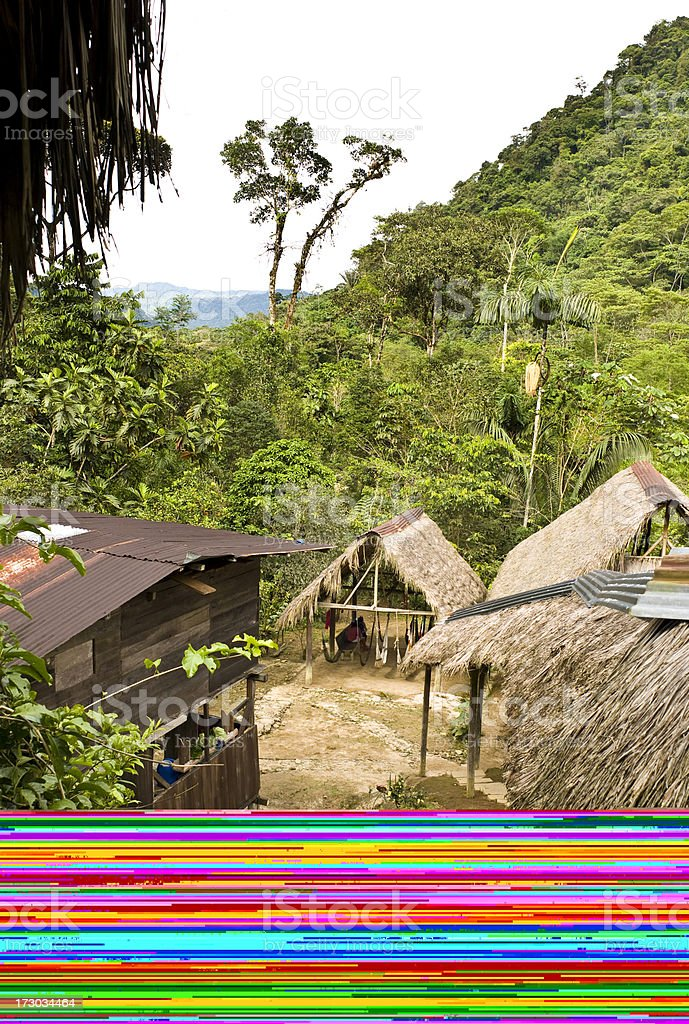 Jungle Hut royalty-free stock photo