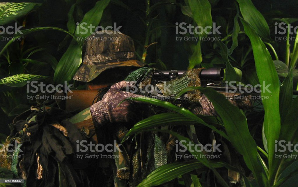 Jungle Sniper stock photo