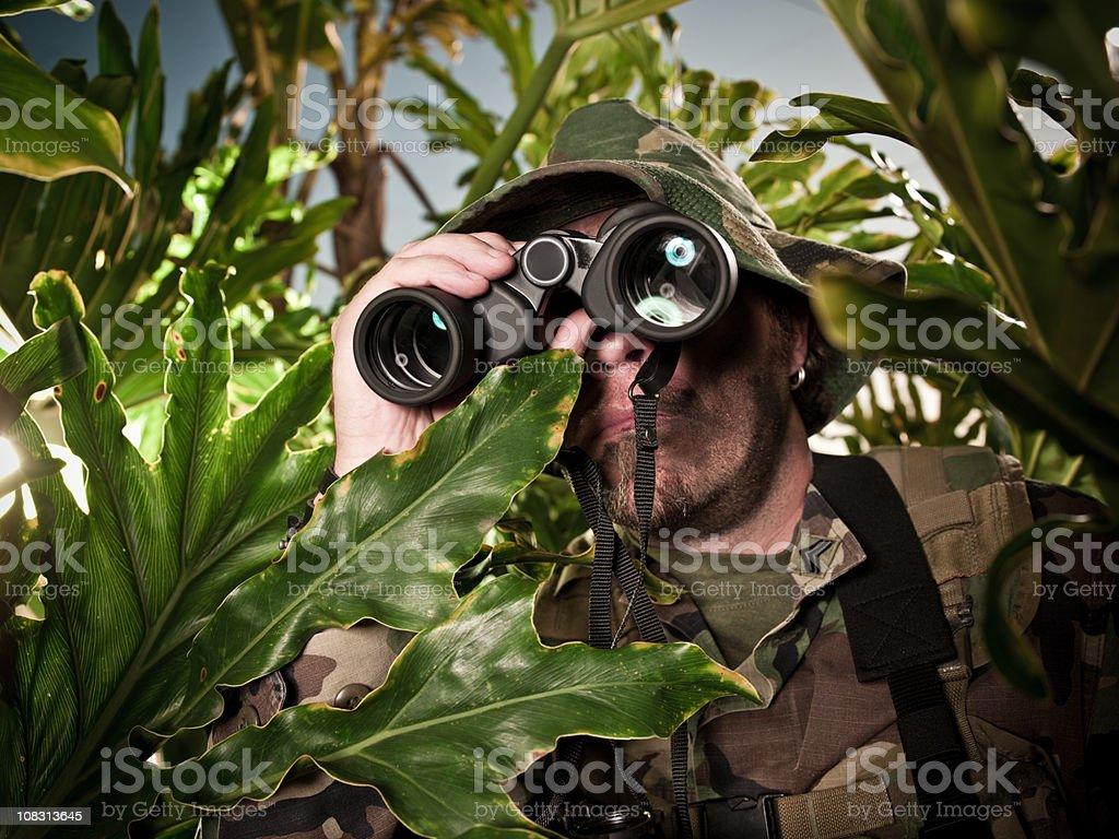 Jungle Warfare stock photo