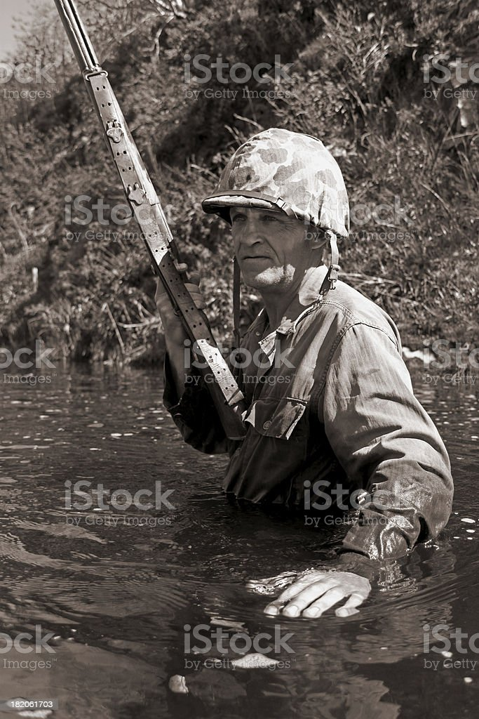Jungle Warfare. stock photo