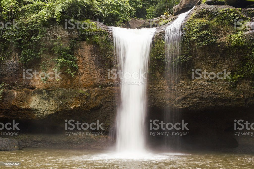 Jungle waterfall in rural Thailand royalty-free stock photo
