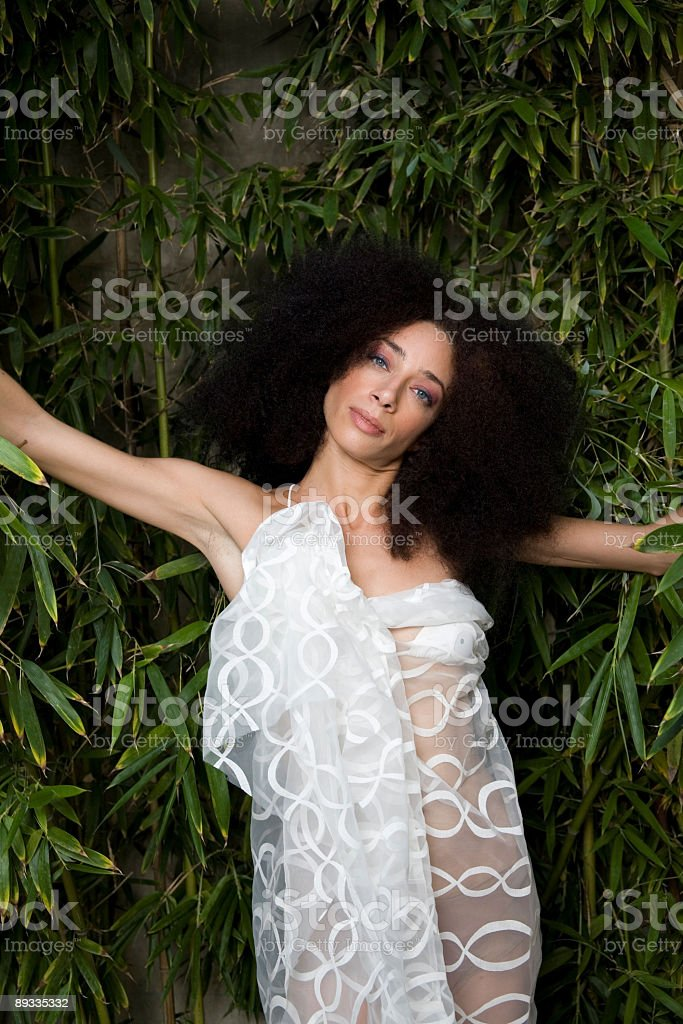 Jungle woman royalty-free stock photo