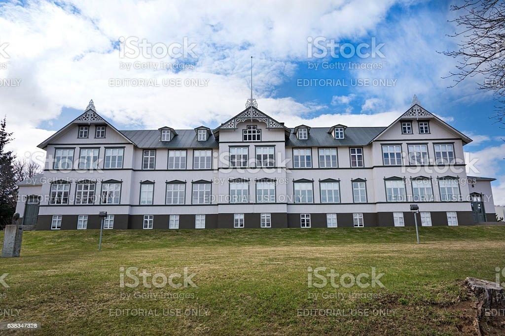 Junior College Akureyri stock photo