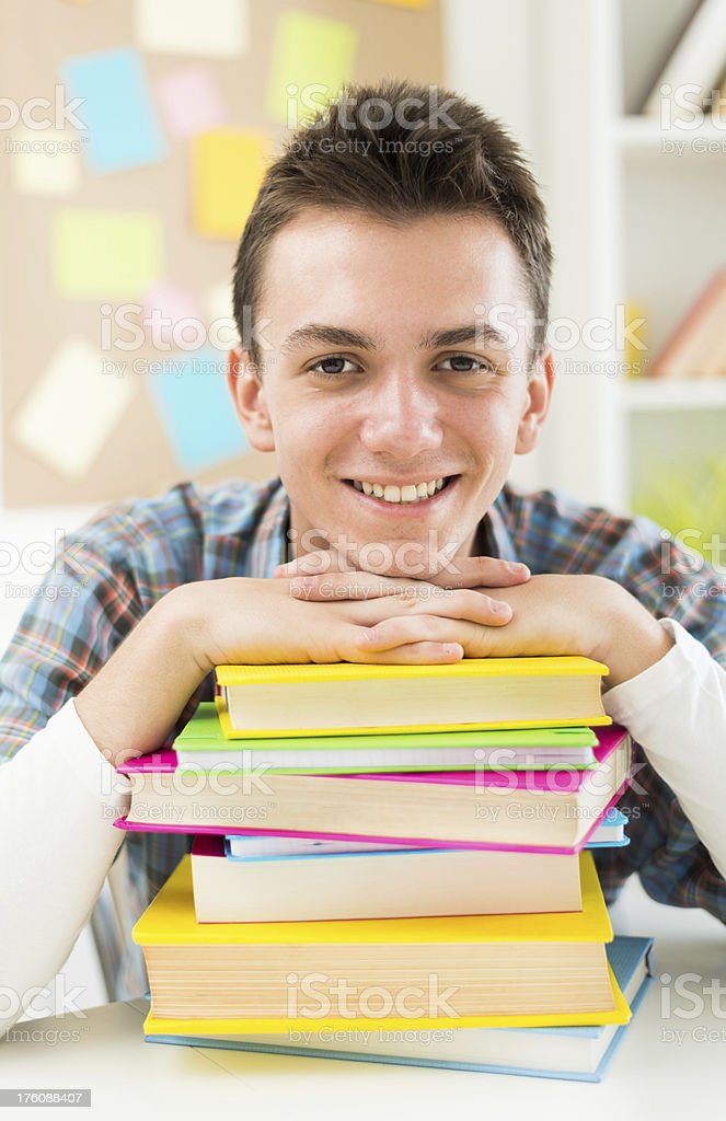 Junior college student royalty-free stock photo