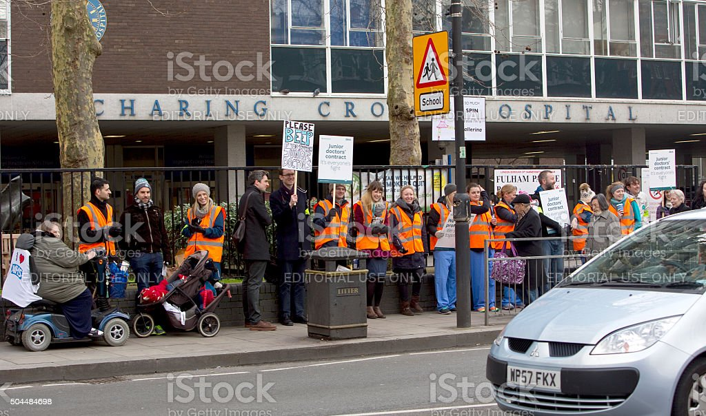 Junior Doctor's Strike in England stock photo
