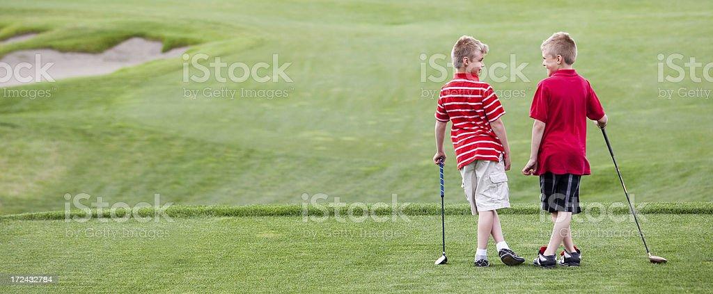 Junior Golf stock photo