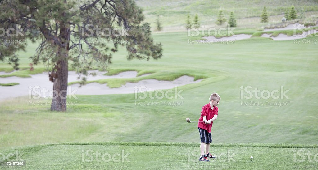 Junior Golfer royalty-free stock photo