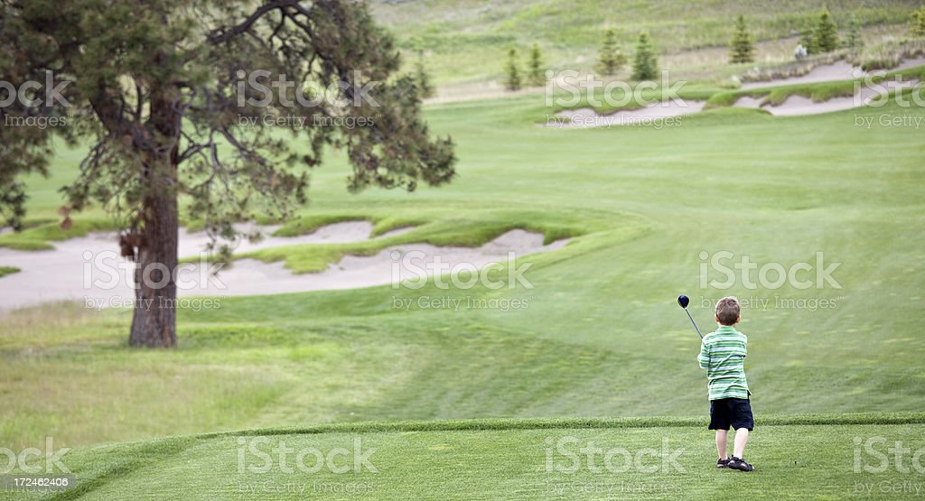 Junior Golfer royalty-free stock photo