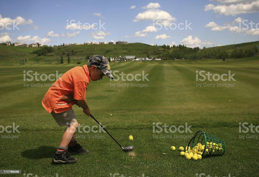 Junior Golfer stock photo