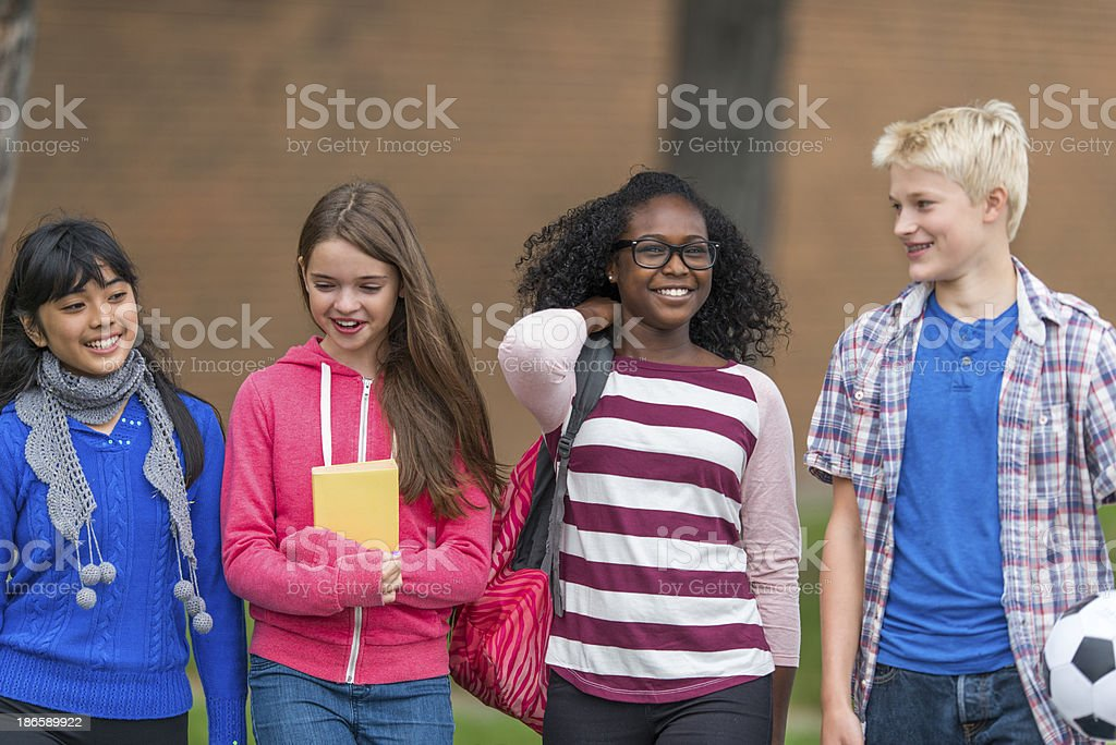 Junior High royalty-free stock photo