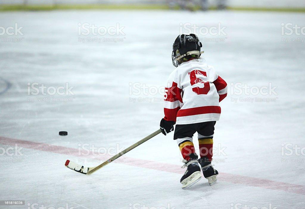 Junior ice hockey. stock photo