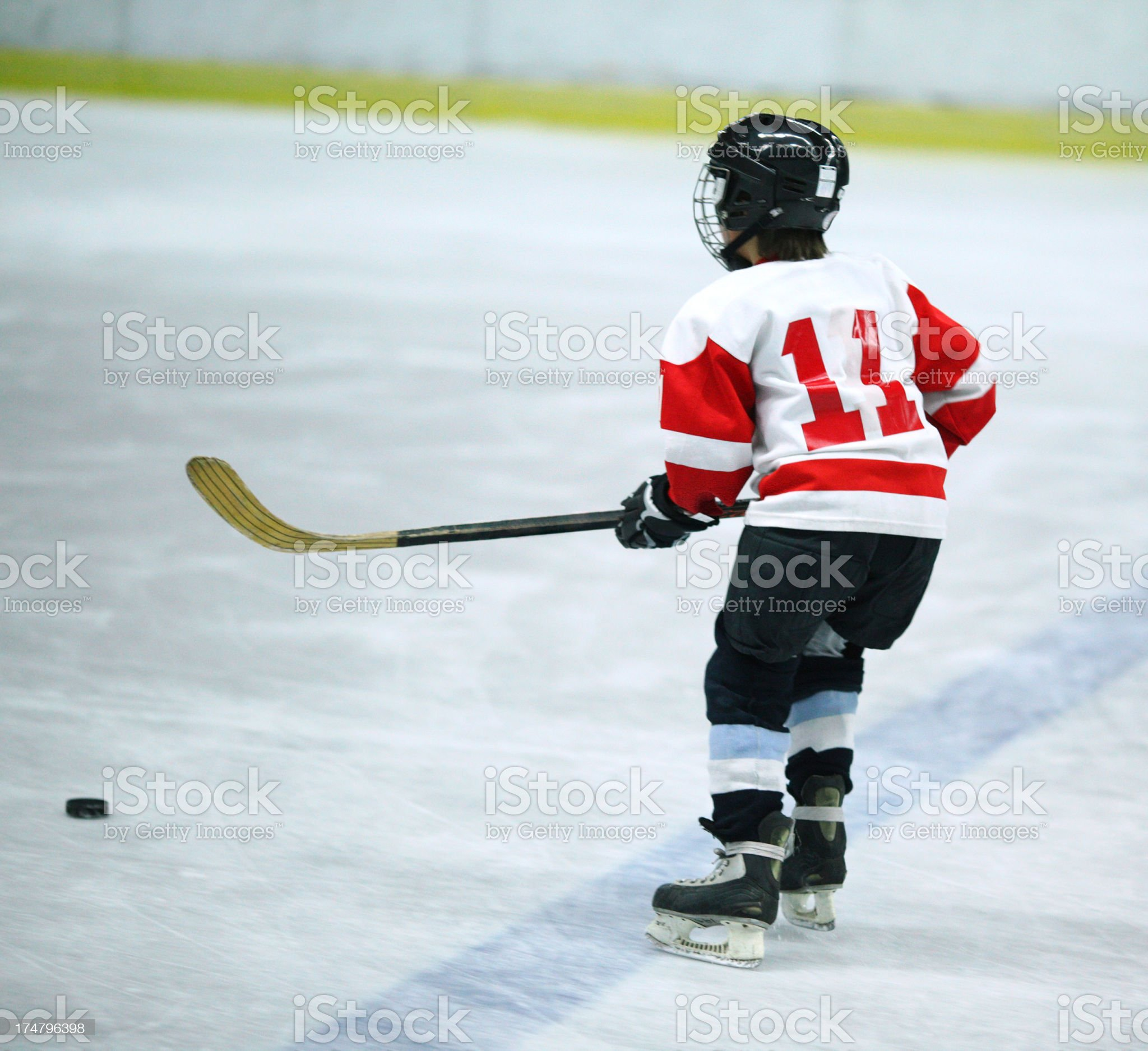 Junior ice hockey player. royalty-free stock photo