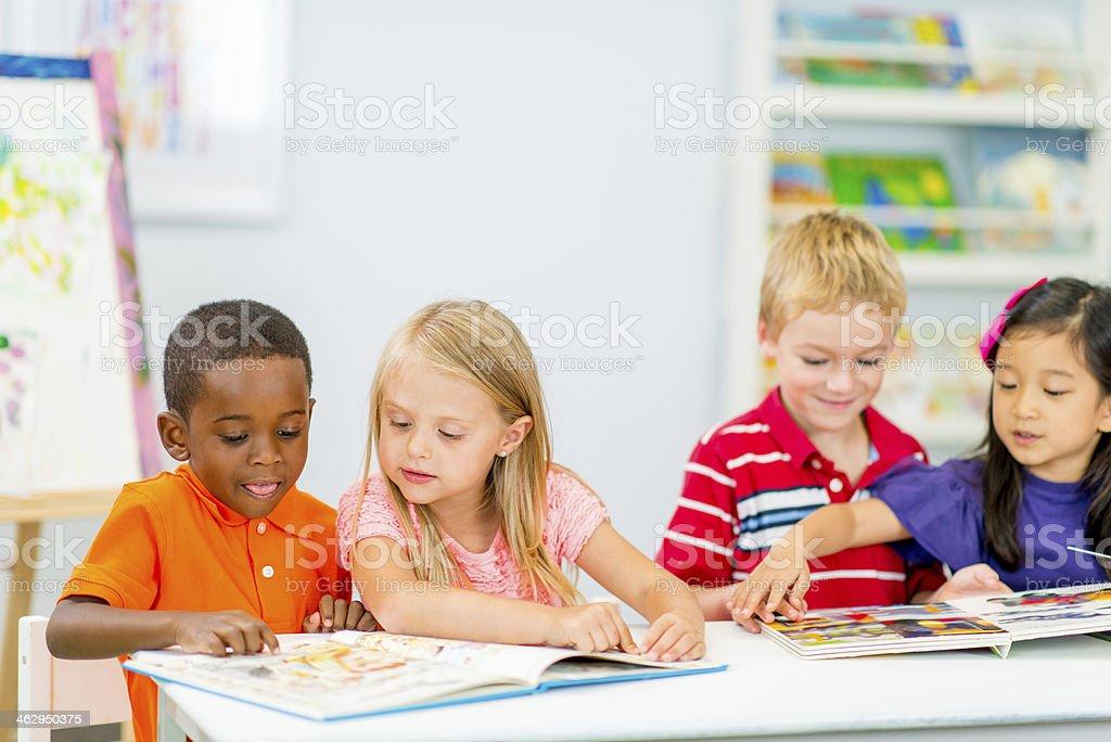 Junior Kindergarten Class stock photo
