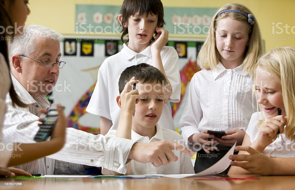 junior school: brain storming royalty-free stock photo