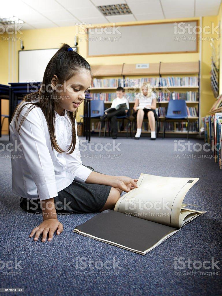 junior school: reading royalty-free stock photo