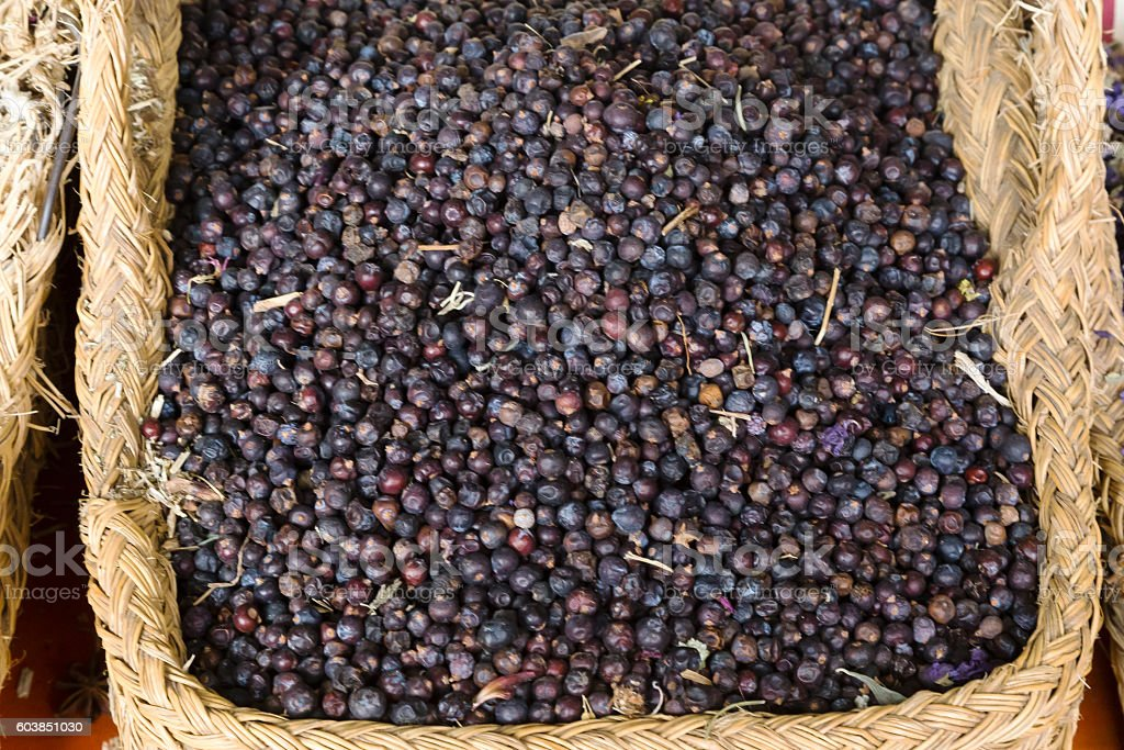 juniper berries set stock photo