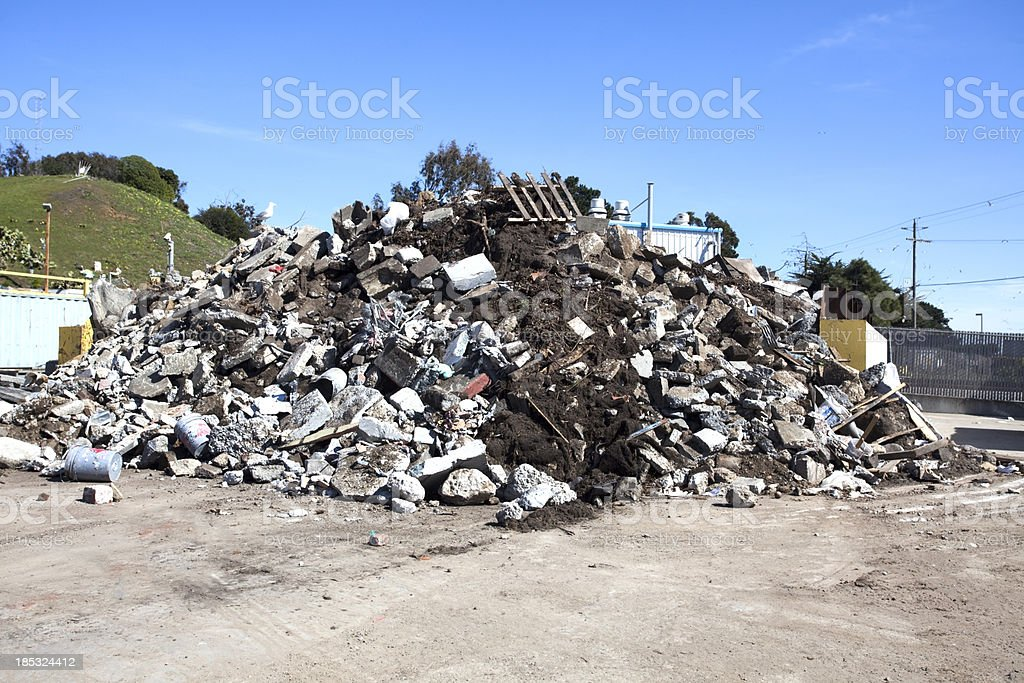 Junk at the Dump royalty-free stock photo