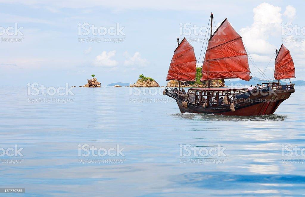 junk boat royalty-free stock photo