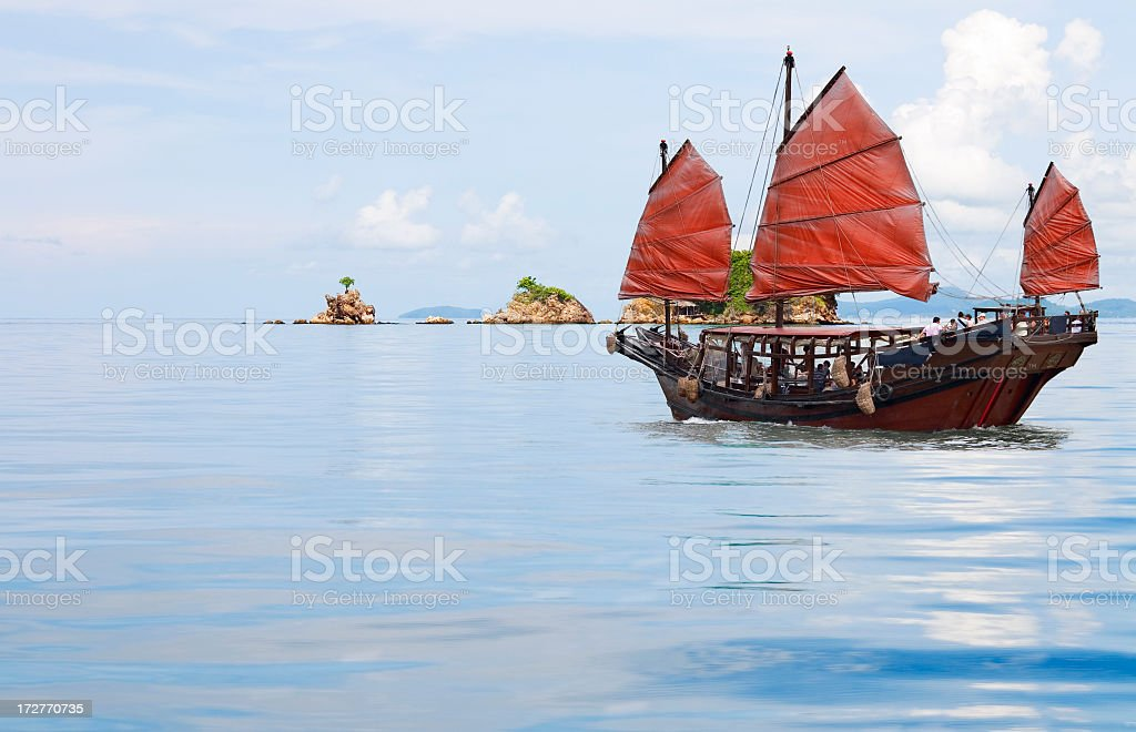 junk boat stock photo