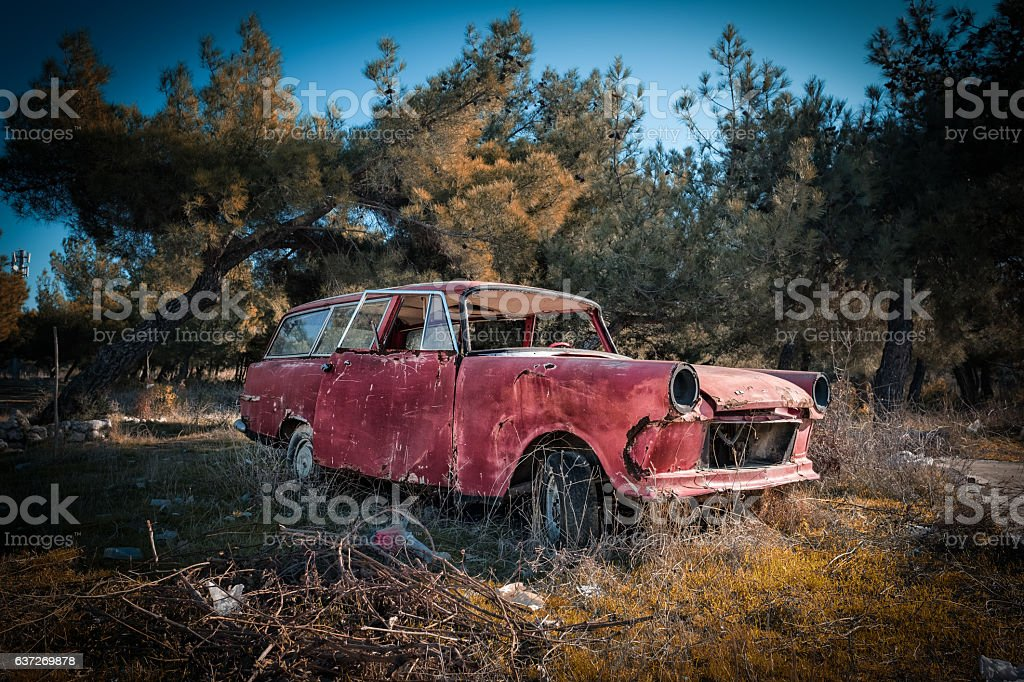 Junk Car stock photo