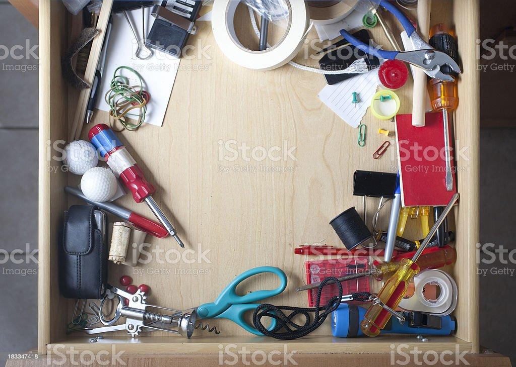 Junk Drawer royalty-free stock photo