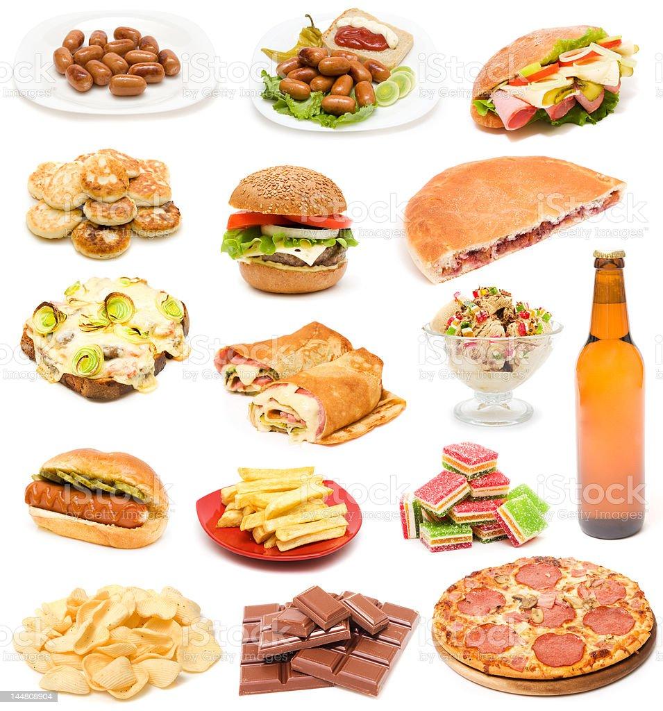Junk food royalty-free stock photo