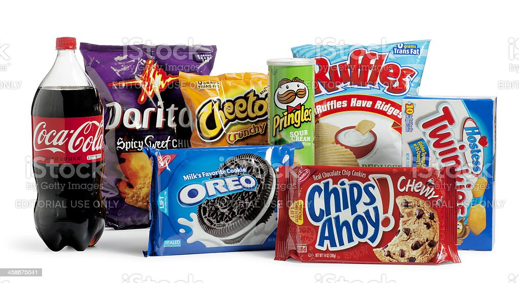 Junk Food stock photo