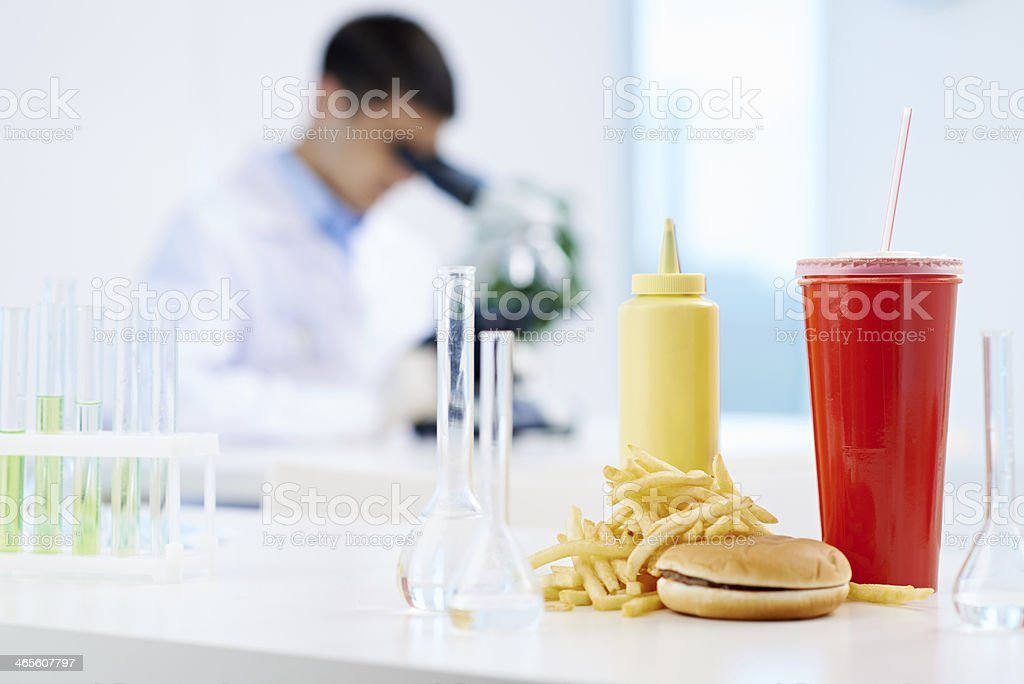 Junk food research royalty-free stock photo