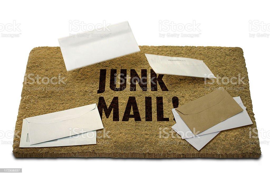 Junk Mail Doormat royalty-free stock photo