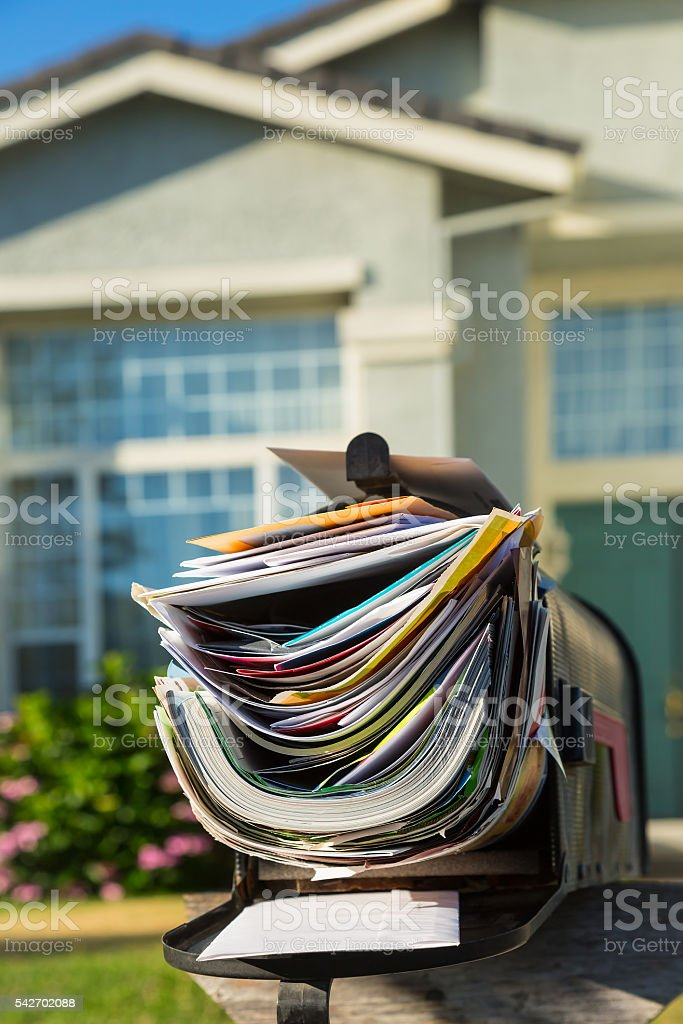Junk mail stock photo