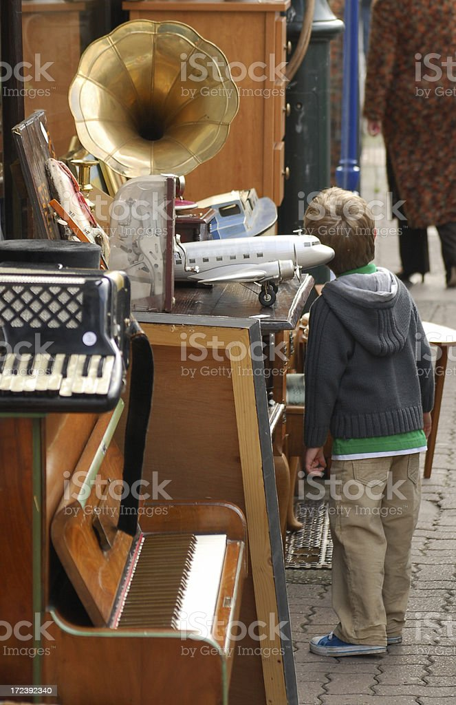 Junk Shop & Child royalty-free stock photo